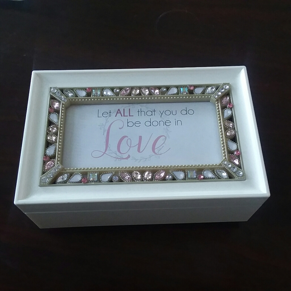 New in Box Jeweled Music Box by Roman